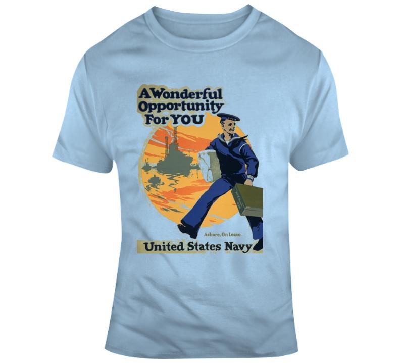 U S Navy Retro T Shirt