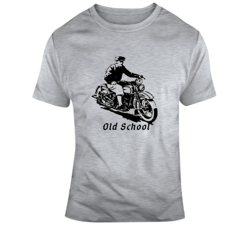 Biker Old School T Shirt