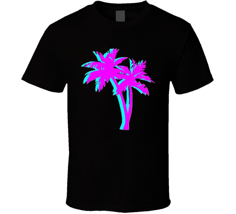 Retro Palm Trees T Shirt