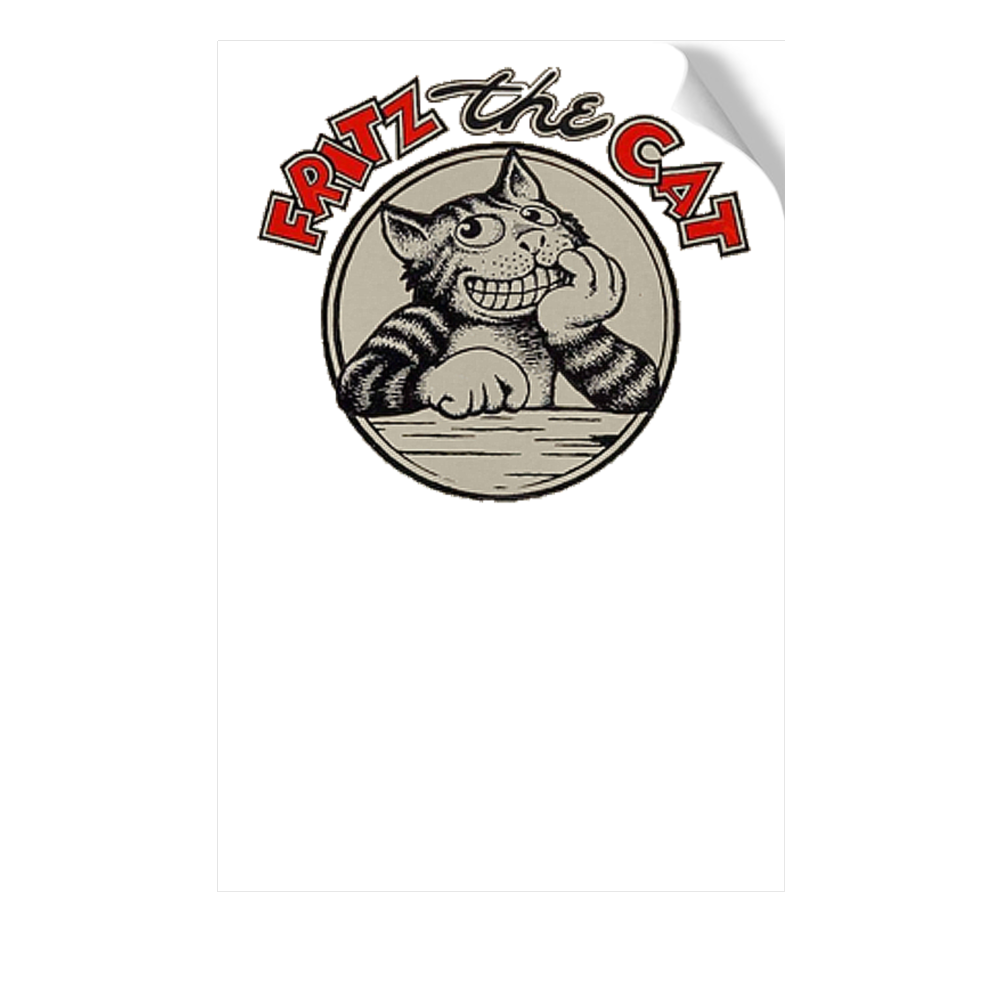 Fritz The Cat Peel and Stick