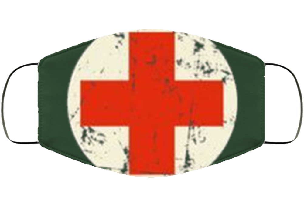 Red Cross Face Mask Cover