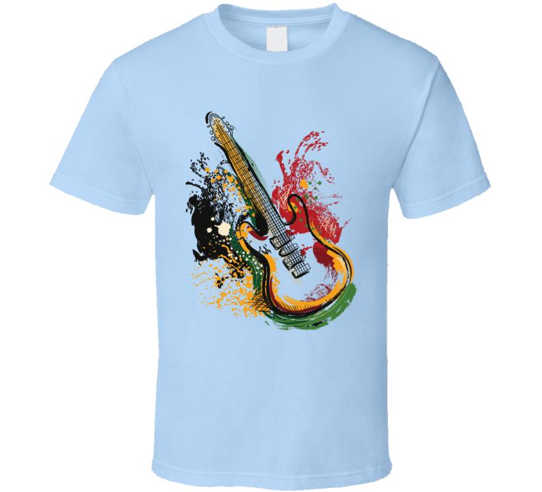 Guitar Art T Shirt