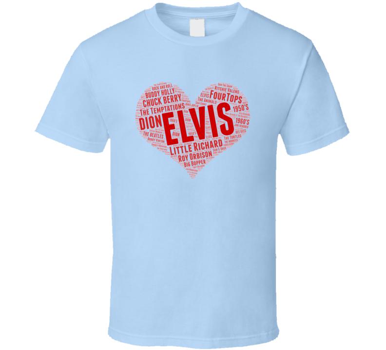 I Love Rock & Roll Music Cloud T Shirt