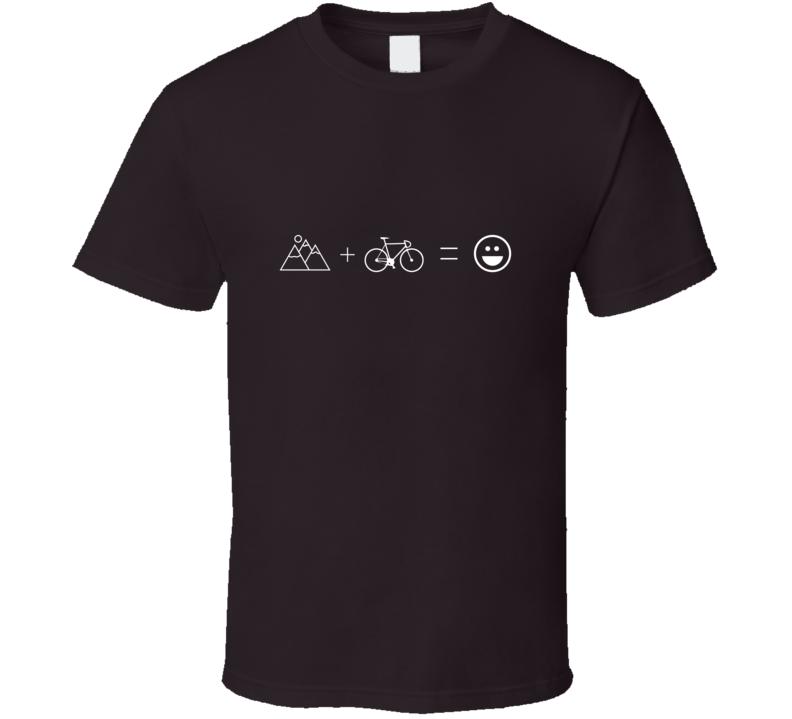 Mountains Plus Bike Equals Fun T Shirt