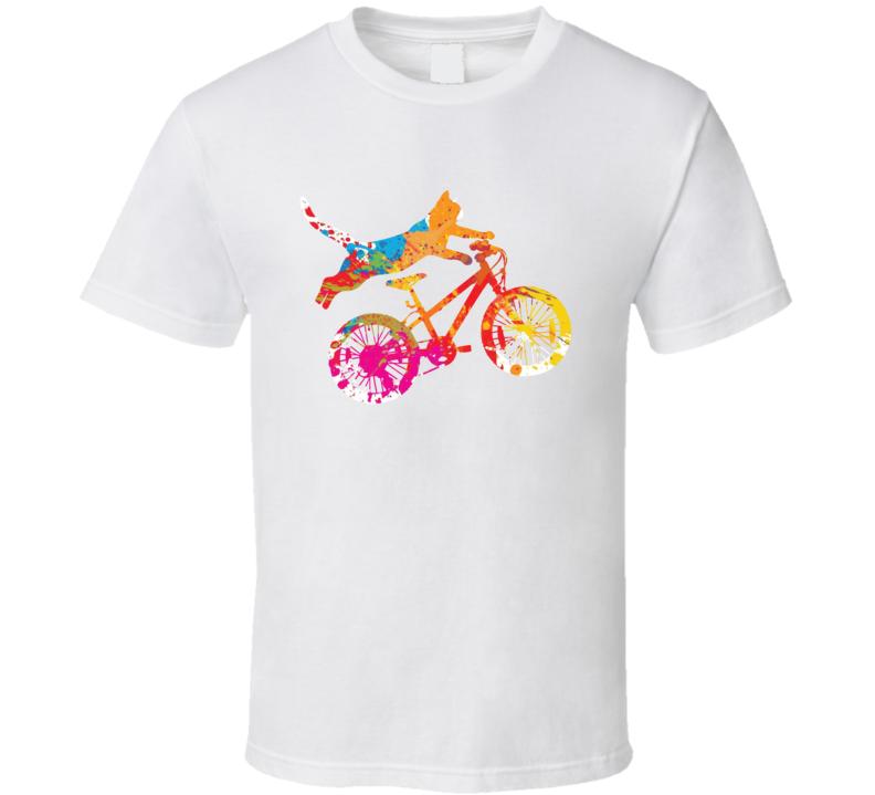 Cool Cat Biker T Shirt
