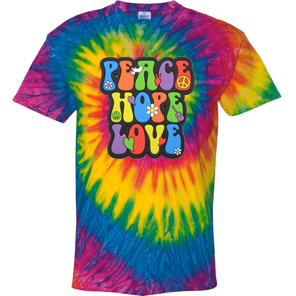 Peace Love Hope Tie Dye