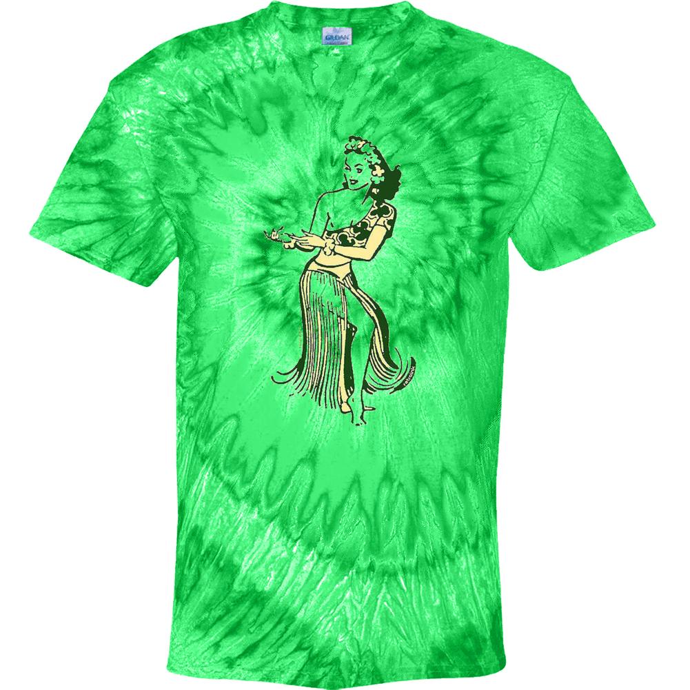 Retro Hula Girl Tye Dye Tie Dye