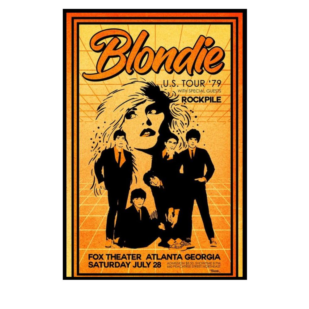 Blondie Us Tour 1979 Poster