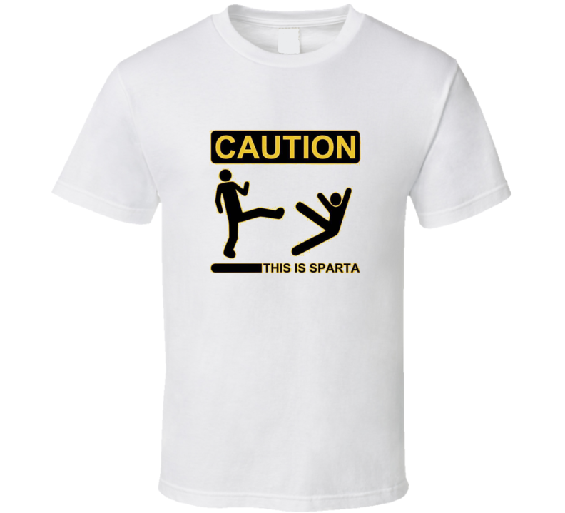 CAUTION this is SPARTA white T Shirt