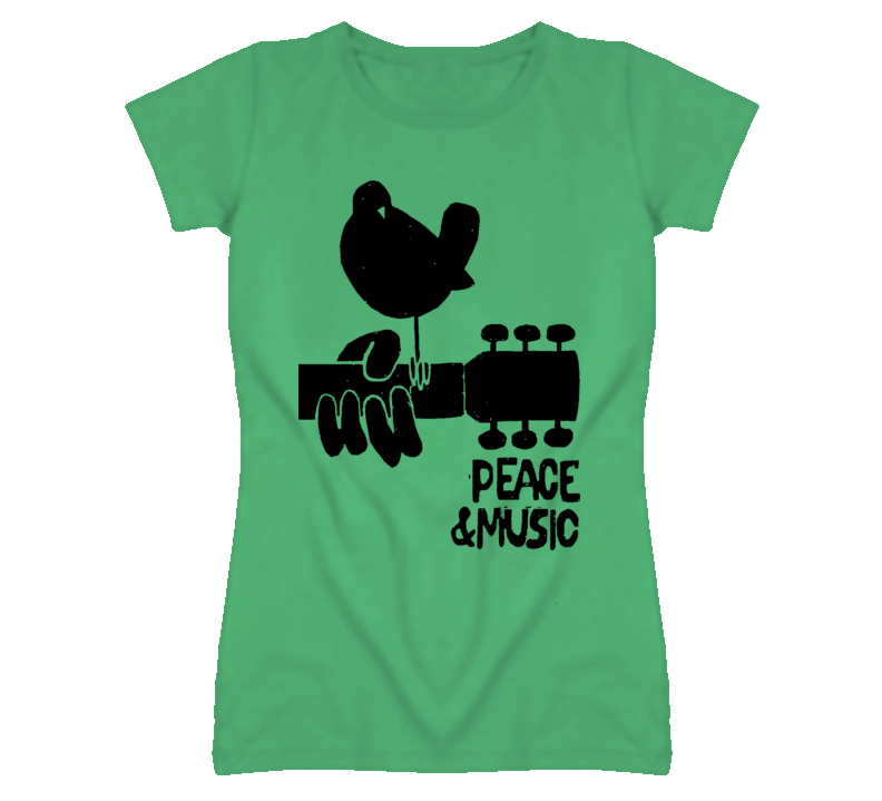 Woodstock Peace & Music Ladies Tee T Shirt