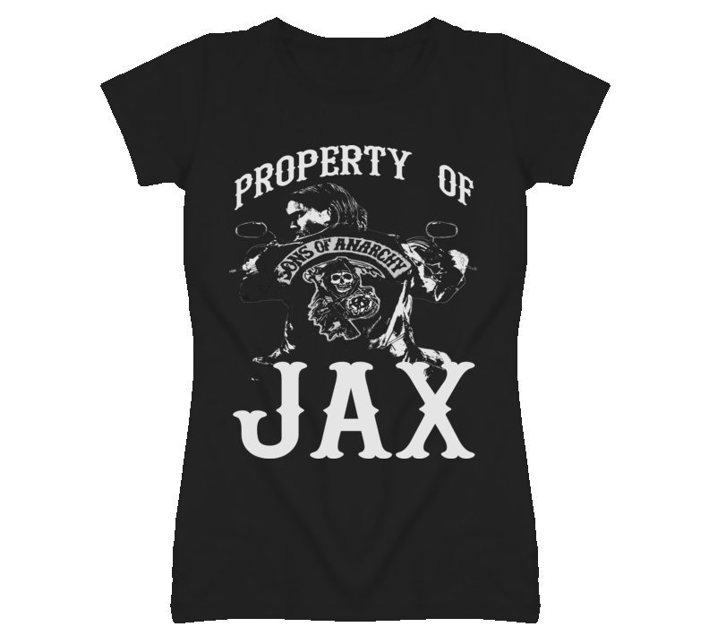 Property of Jax Sons of Anarchy Ladies Tee T Shirt