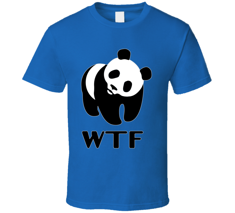 WTF T-Shirt WWF Parody