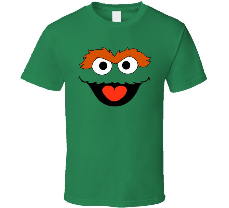 Oscar the Grouch Big Face T-Shirt