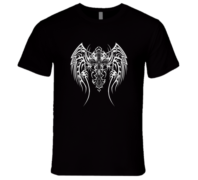 Tribal Winged Cross T-Shirt