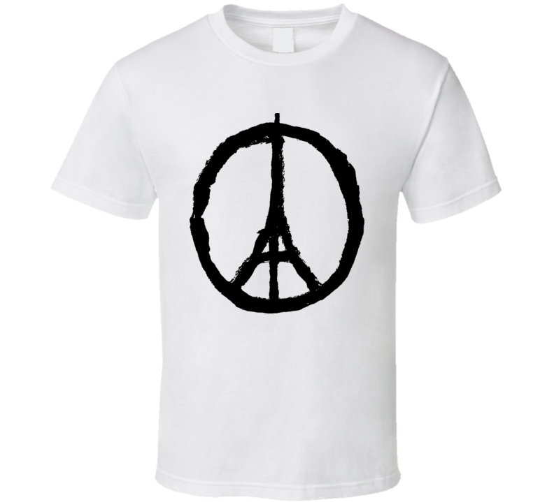 Paris Peace Sign T-Shirt Eiffel Tower