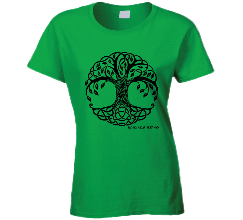 Celtic Tree of Life Romans 11 T Shirt