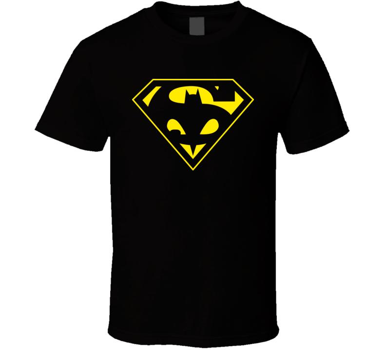 Superman Batman Mash Up Tee T Shirt