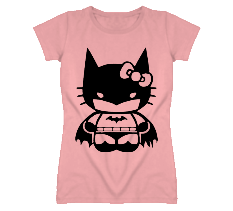 Hello Kitty Batman T Shirt