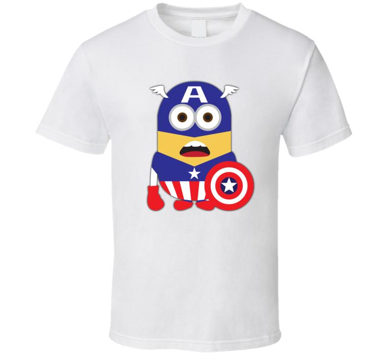 Captain America Super Minion T Shirt