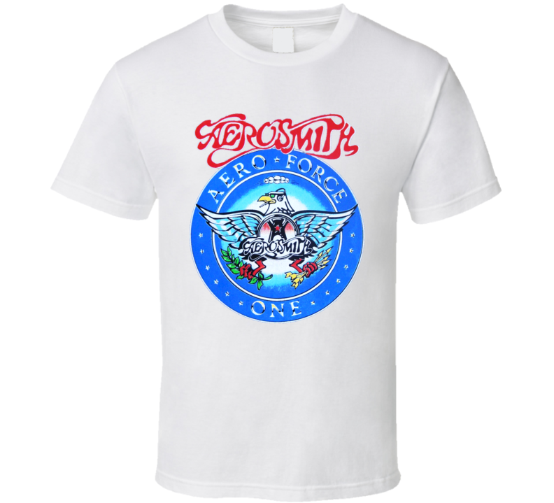 AERO FORCE ONE AEROSMITH T-SHIRT GARTH WAYNE'S WORLD