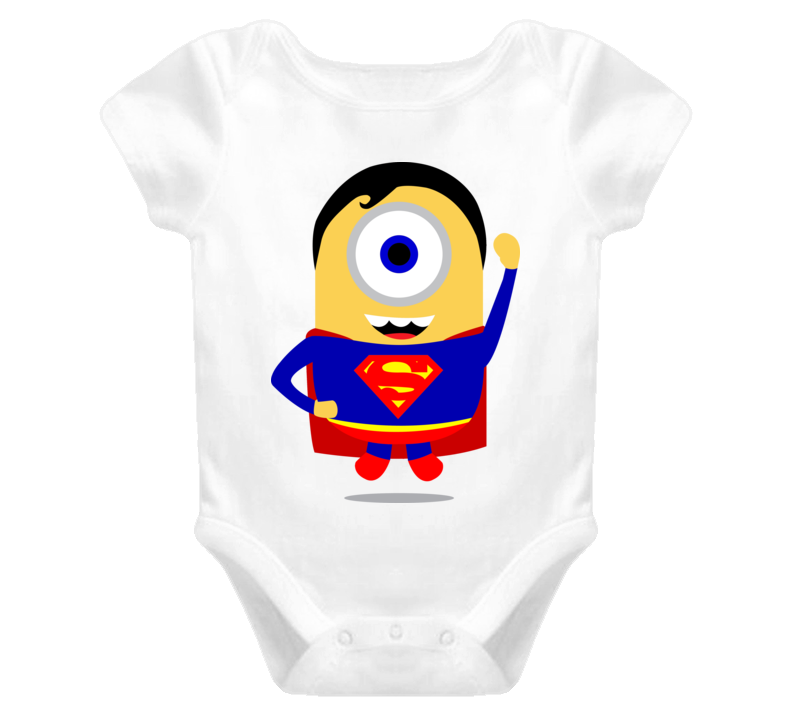 SuperMan Minion Baby's Onesie