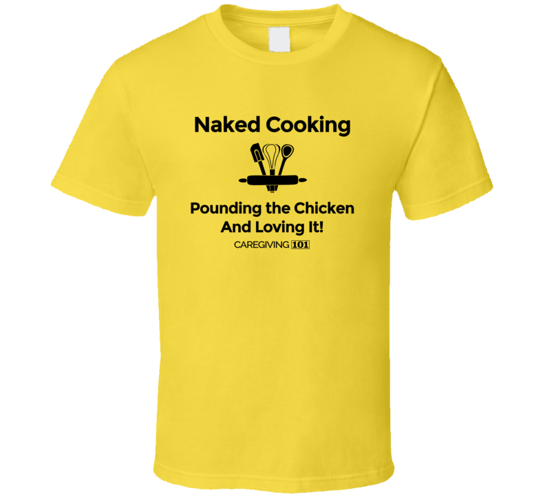 Pounding The Chicken Bw T Shirt