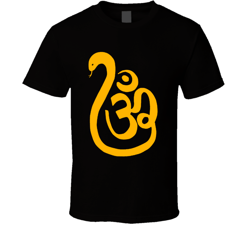 OM Snake T Shirt (yellow print)
