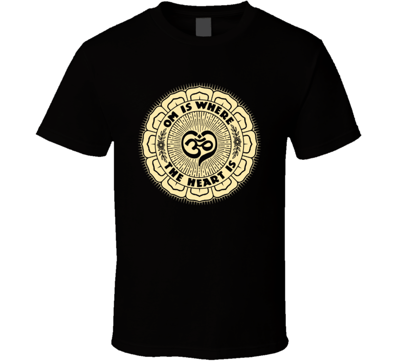 OM Is Where the Heart Is T Shirt (2-Tone)