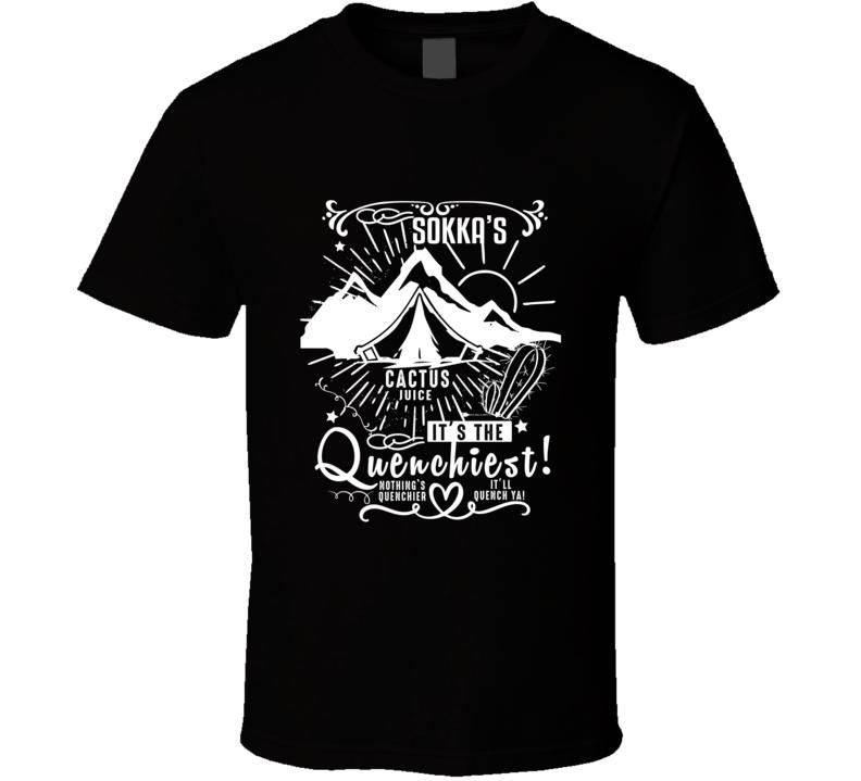 Sokka Cactus Juice Quenchiest Avatar The Last Airbender Aang Katara T Shirt