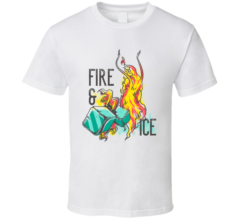 Fire And Ice Red And Blue T Shirt