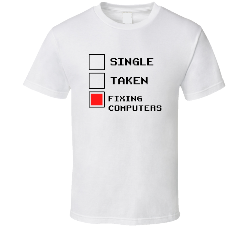 Rather Be Fixing Computers Funny Geek Essential Gift T Shirt