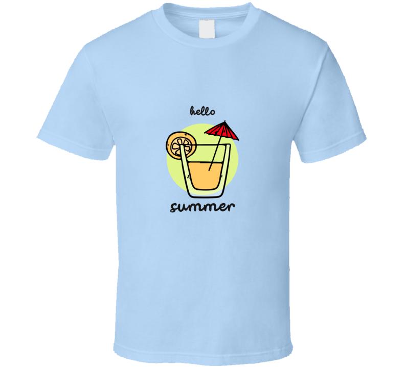 Hello Summer 2020 Beach Fun Lemonade Drink Party Essential Gift T Shirt