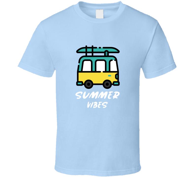 Summer Vibes Travel Van Beach Road Trip Hello Summer 2020 Fun Lemonade Drink Party Essential Gift T Shirt