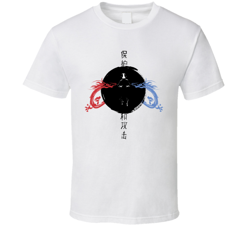 Ran And Shaw Red Blue Dragons Avatar The Last Airbender Aang Katarara T Shirt