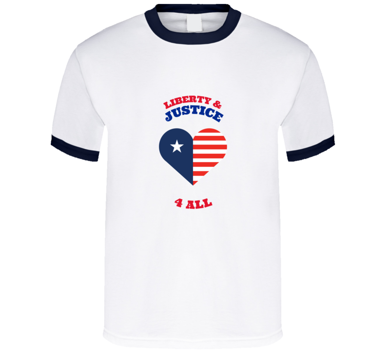 Liberty And Justice For All Independence Day 4th Of July American Essential Gift T Shirt