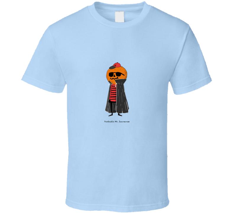 Halloween Monster Fantastic Mr. Scarecrow Pumpkin Head T Shirt