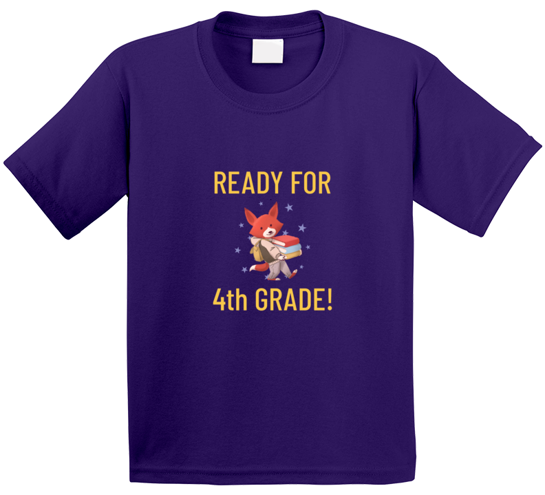Ready For Fourth Grade Back To School Cute Animal  T Shirt