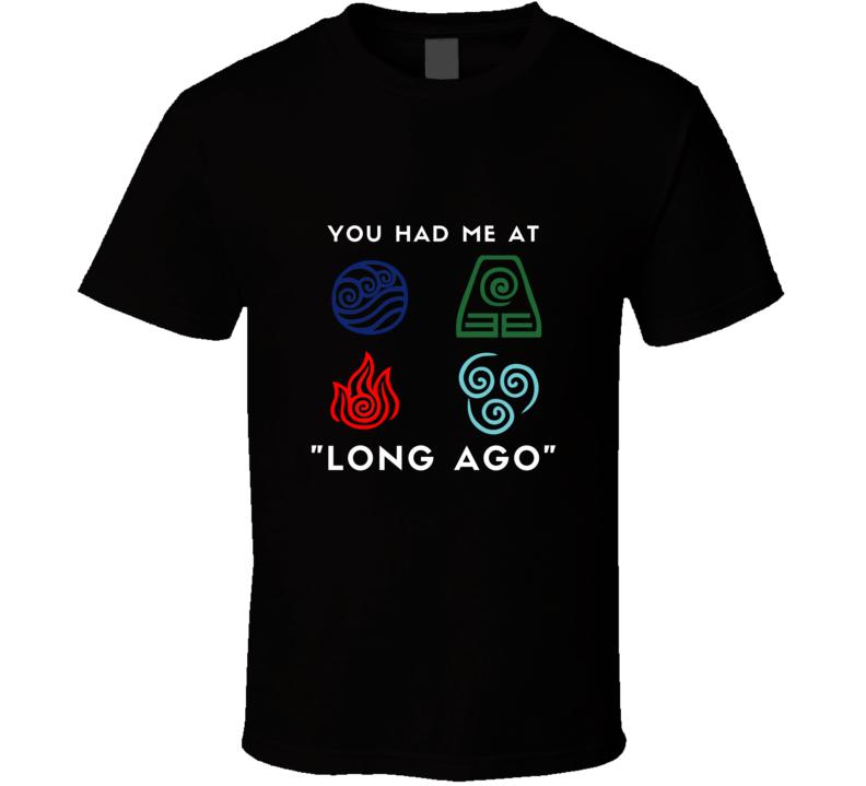 Long Ago Avatar The Last Airbender Intro Aang Katara T Shirt