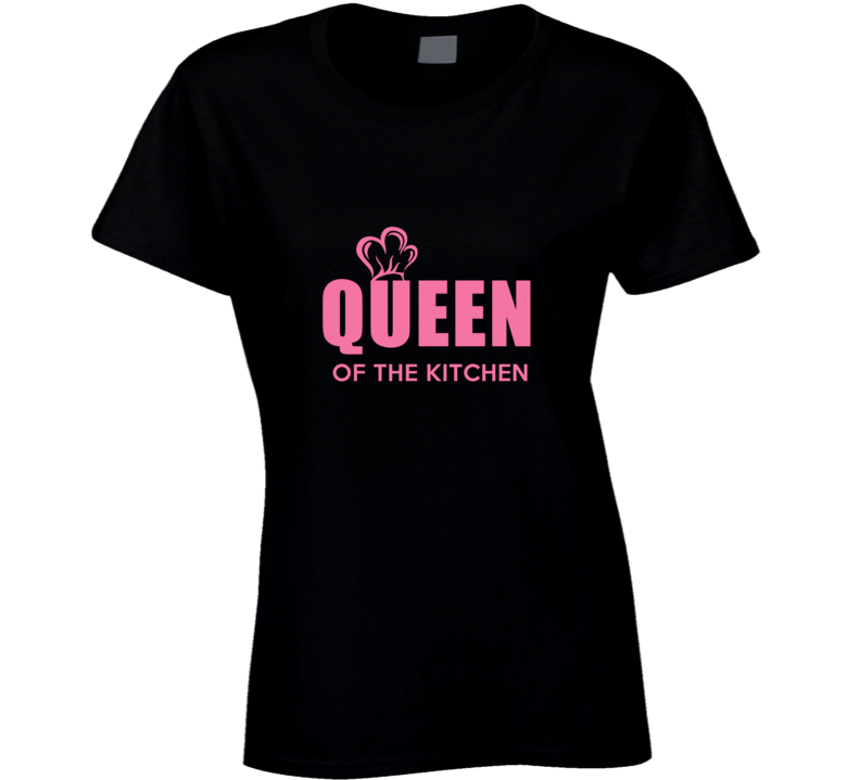 Kitchen Queen Love Baking Cooking Chef Ladies T Shirt
