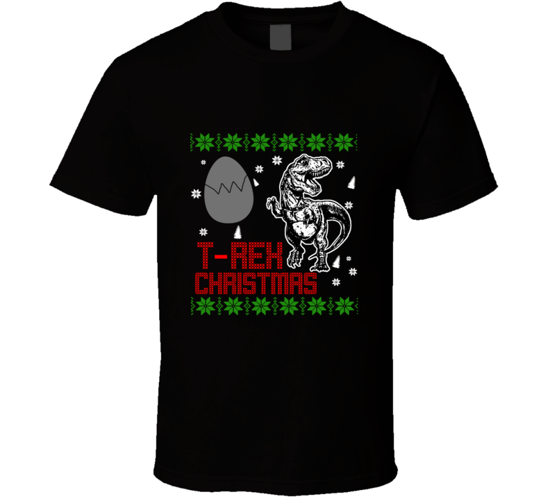 T Rex Dinosaur Christmas Funny Ugly Sweater T Shirt