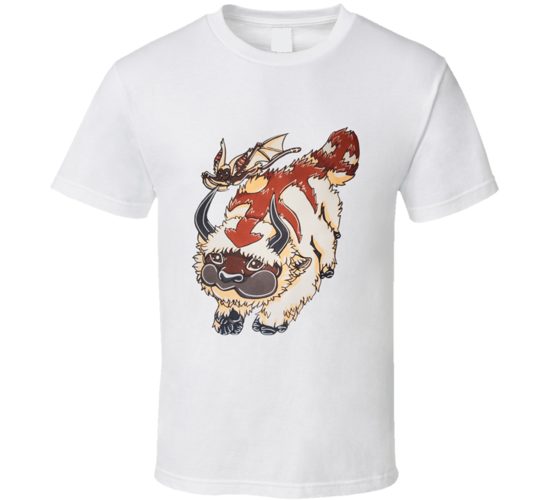 Appa And Momo Original Sharkrok Fanart Avatar The Last Airbender Fuzzy Animals T Shirt