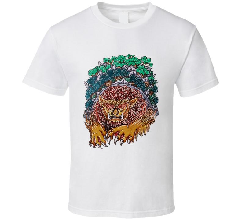 Lion Turtle Original Sharkrok Fanart Avatar The Last Airbender Fuzzy Lionturtle Animals  T Shirt
