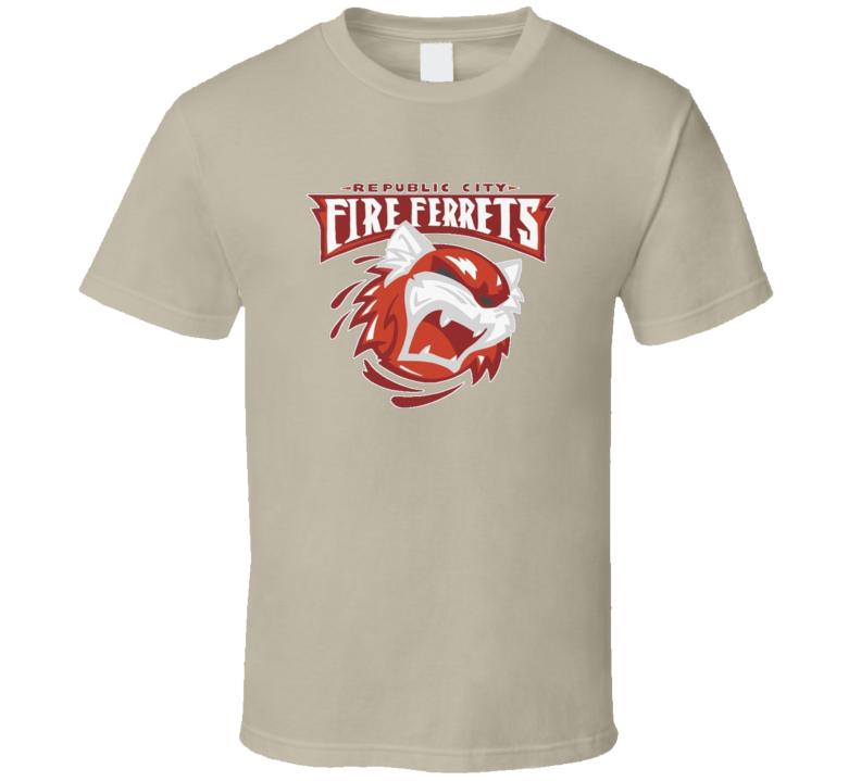 Republic City Fire Ferrets The Legend OF Korra Animated TV Series Fan T Shirt