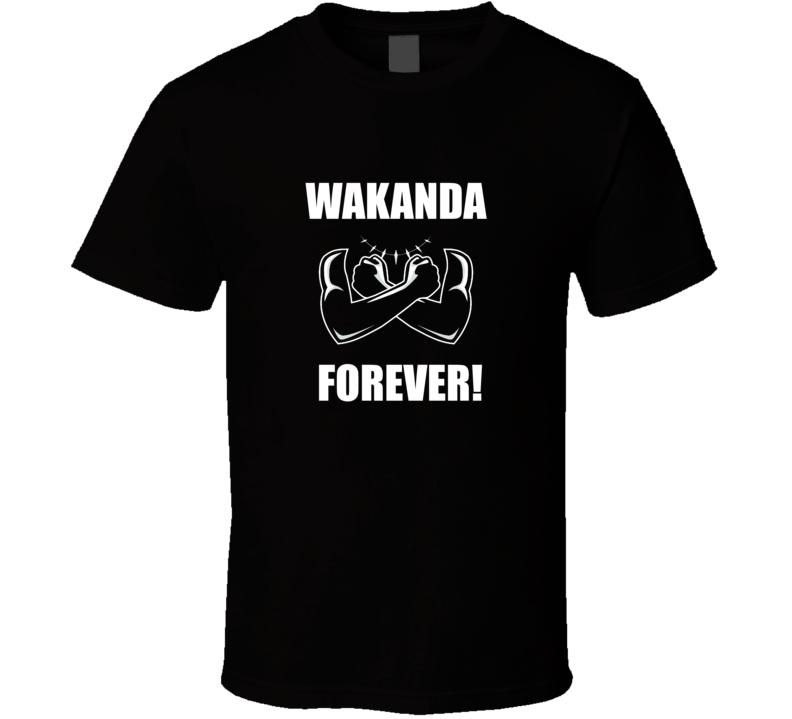 Wakanda Forever Chadwick Boseman Black Panther Marvel Fan T Shirt