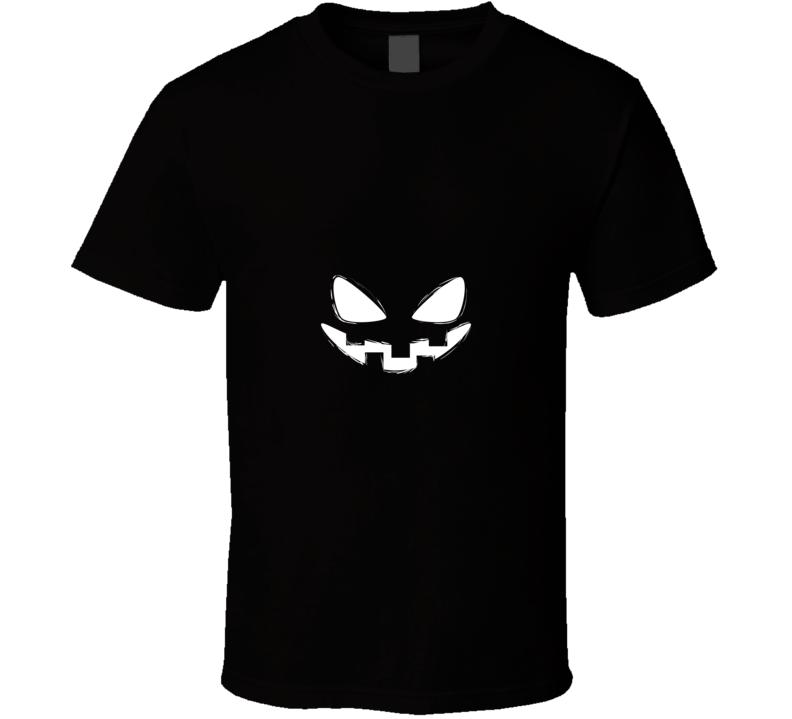 Scary Jackolantern Face Spooky Shirt Halloween Ghost T Shirt
