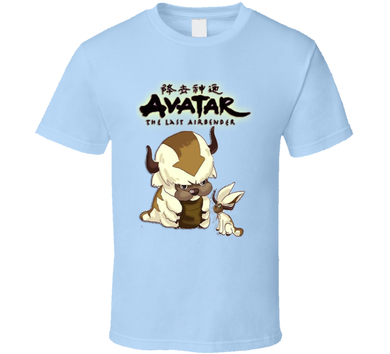 Appa Momo Avatar The Last Airbender Shirt | Animation Tshirt | Atlab Animated Anime Lover Graphic Tee Gift T Shirt