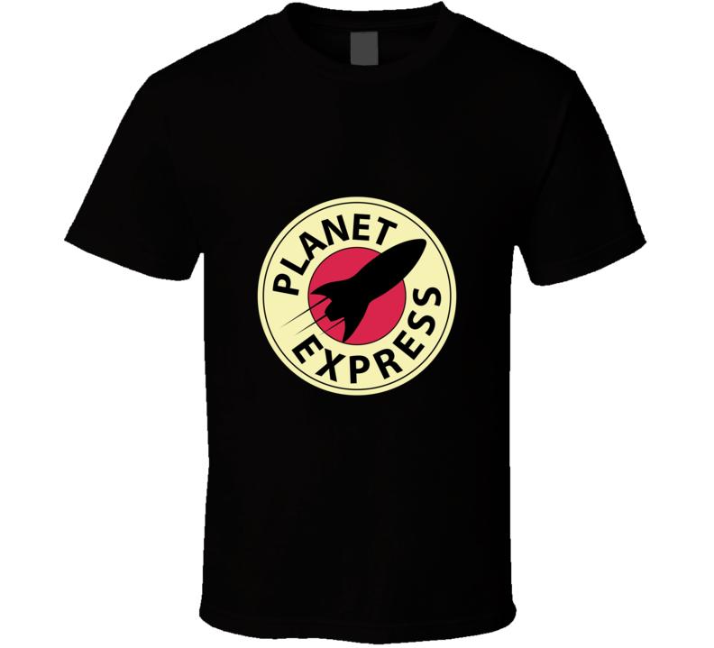 Futurama Planet Express Space Logo T Shirt