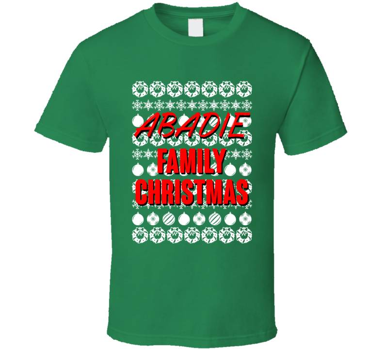 Abadie Family Christmas Ugly Xmas Sweater Symbols Funny T Shirt