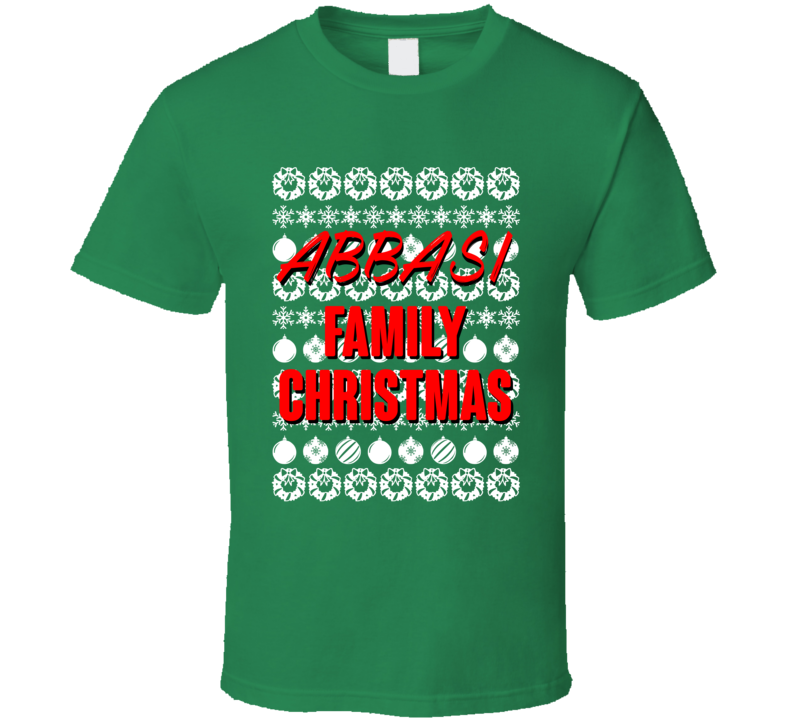 Abbasi Family Christmas Ugly Xmas Sweater Symbols Funny T Shirt