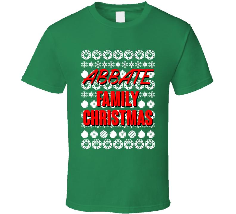 Abbate Family Christmas Ugly Xmas Sweater Symbols Funny T Shirt